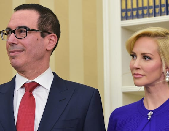 Steve Mnuchin's wife's photo sparks backlash