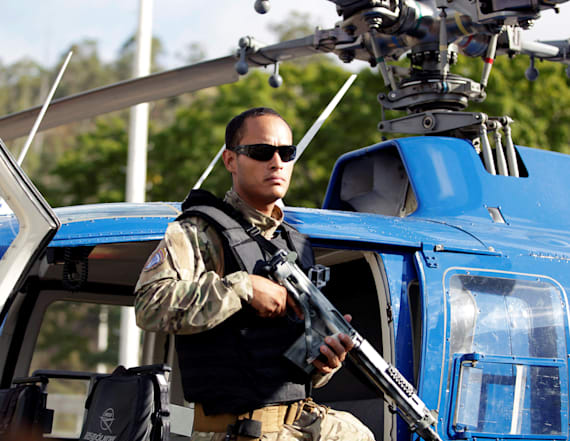 Venezuela hunts rogue helicopter attackers