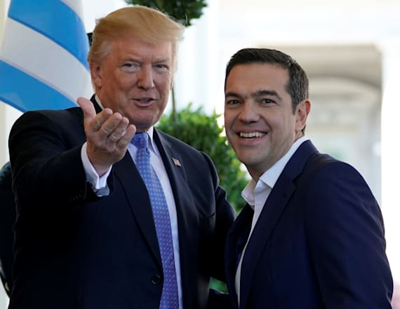 Reporter confronts Greek PM about calling Trump evil