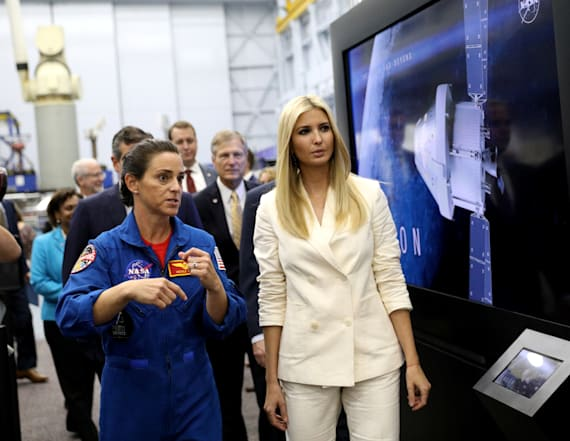Ivanka channels Hillary Clinton in white pantsuit