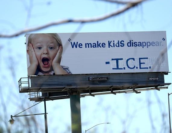 California billboard says ICE makes 'Kids Disappear'