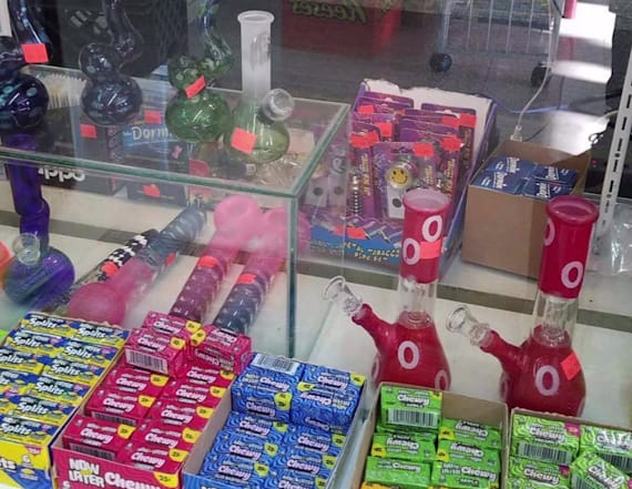 Residents boycott store selling pipes next to candy