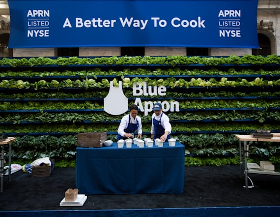Blue Apron slips after laying off hundreds