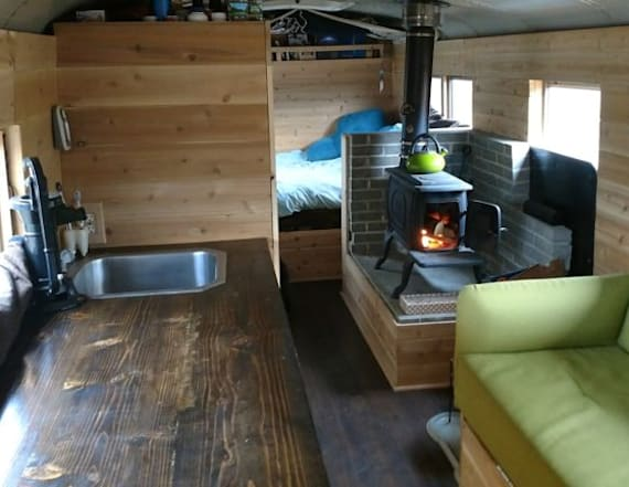 School bus tiny home is a steal for $24,900