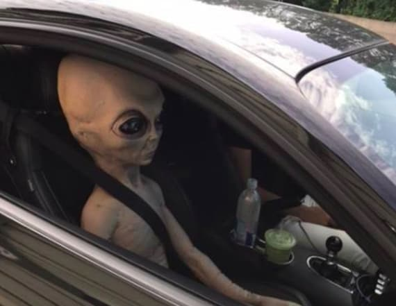 'Alien' pulled over by police in Georgia