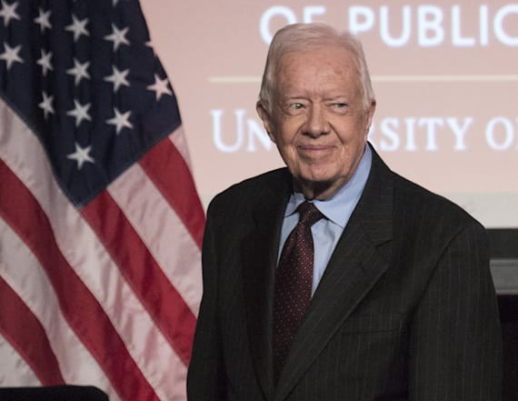 Carter defends Trump in rare interview