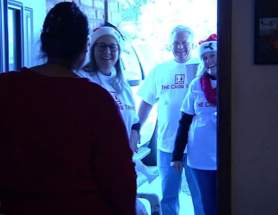 Hurricane Harvey survivors receive holiday surprise