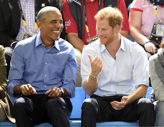Prince Harry interviews former President Obama
