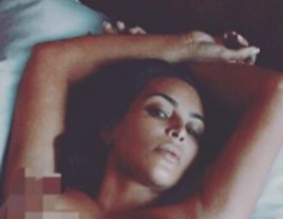 Kim Kardashian goes nude for Instagram