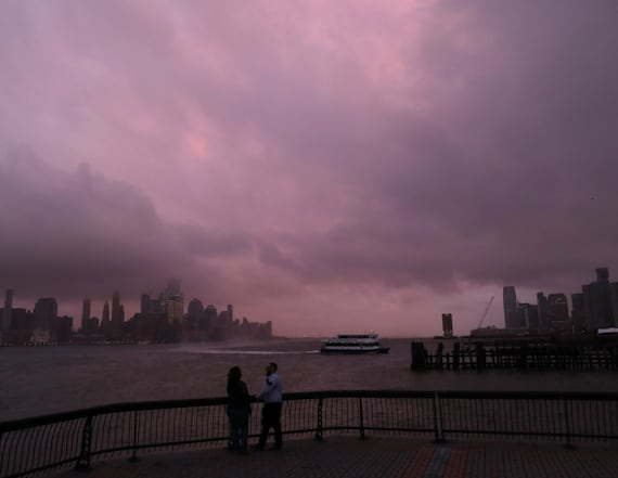 Powerful storm hits Northeast 5 years after Sandy