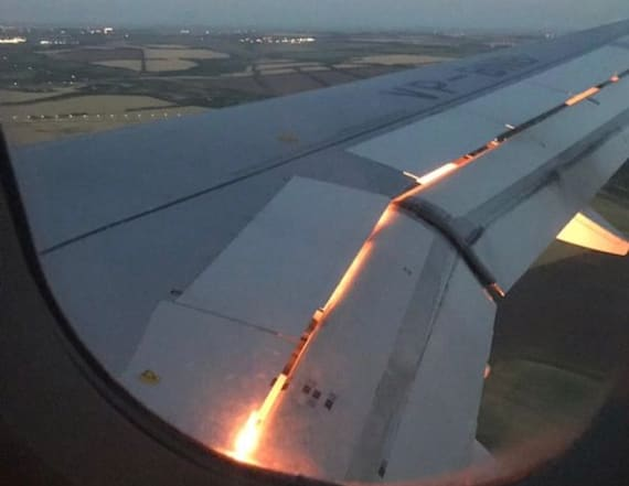 World Cup team's plane catches fire in midair