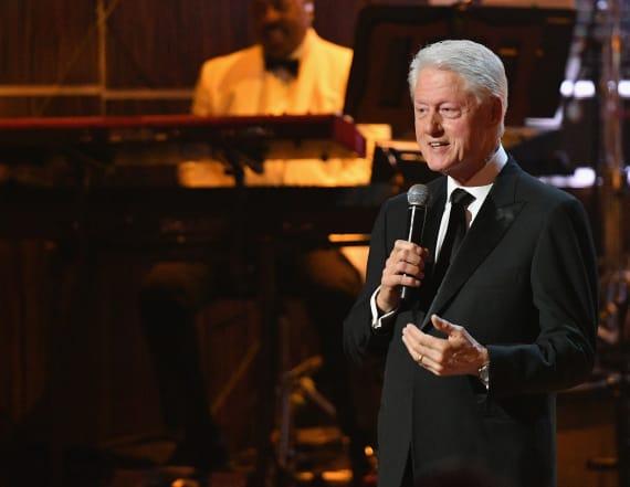 Bill Clinton surprises Hollywood star