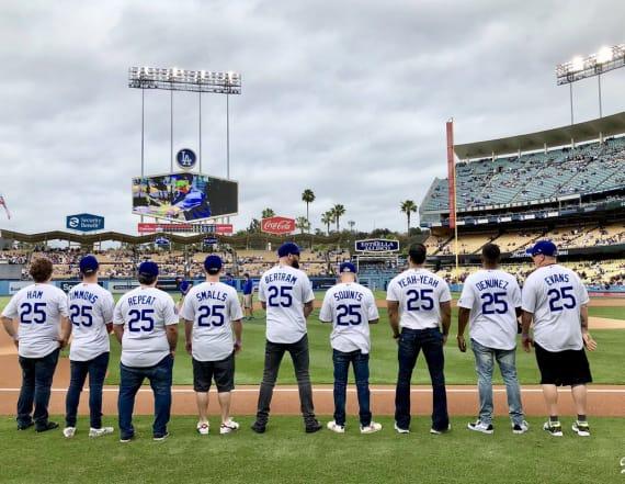 'The Sandlot' cast reunited at Dodger Stadium