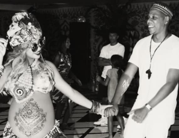 Beyonce's Africa-themed baby shower: Pics