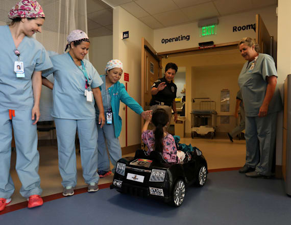 Kids drive themselves to operating room