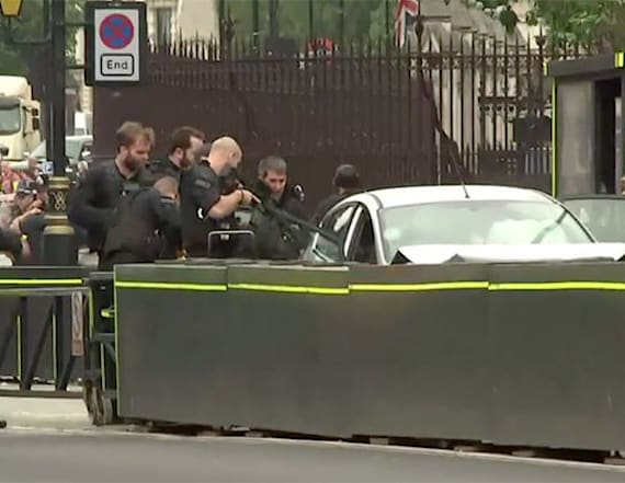 Arrest made after car crashes into UK Parliament
