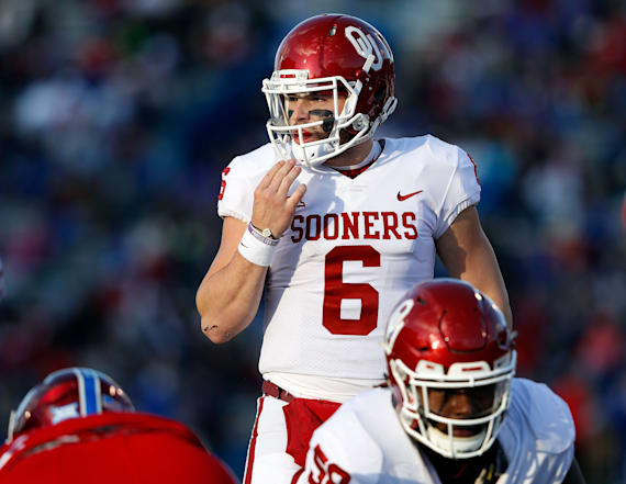 Mayfield won't start after crotch-grabbing incident