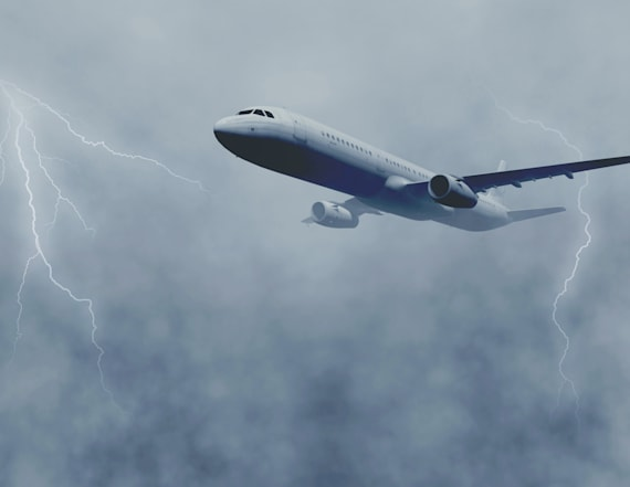 This is what happens when lightning strikes a plane