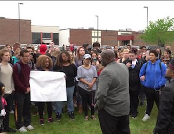 Students protest after threats against black peers