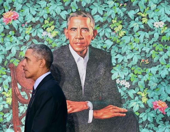 Botany in Obama's portrait represents his history