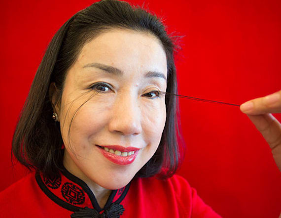 Woman breaks world record with 5-inch long eyelashes
