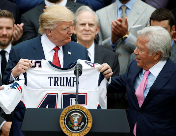 Patriots owner gifted Trump a Super Bowl ring