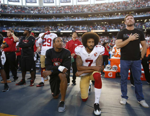NYPD officers rally in support of Colin Kaepernick