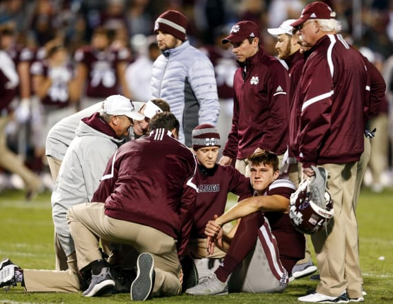 Mississippi State QB suffers horrific injury