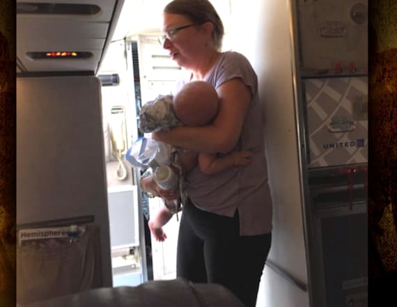 Mom says baby overheated on hot plane