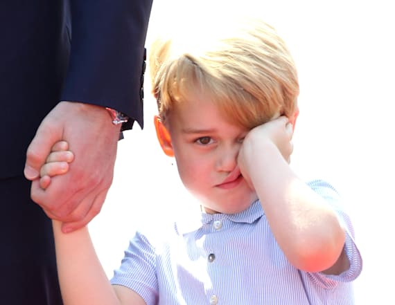 Prince George's 'grumpy' pics have everyone talking