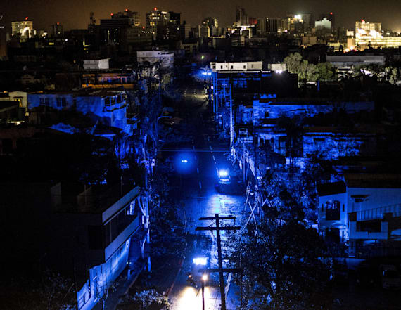 Eerie photos show powerless Puerto Rico cities