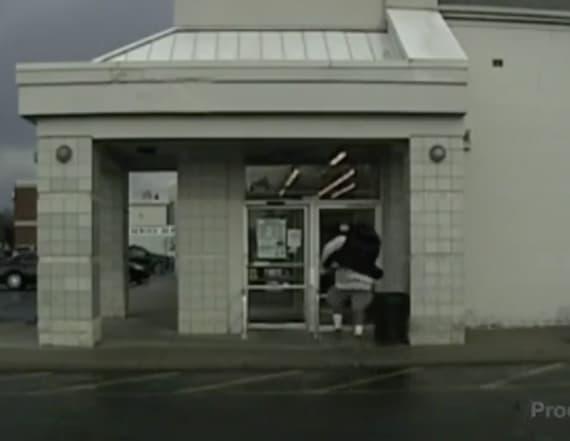 Video shows ex-NFL player running through glass door