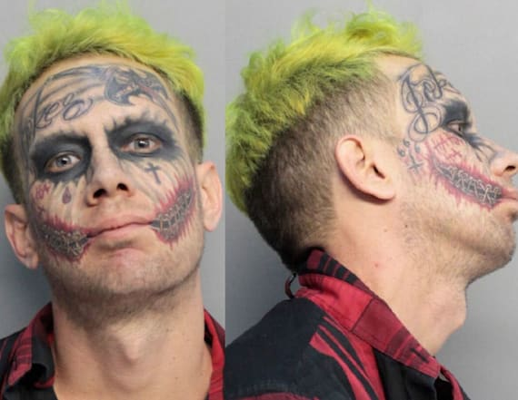 Real-life Joker arrested after cops didn't get joke