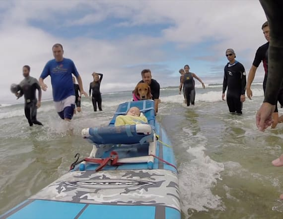Terminally ill children surf for the first time