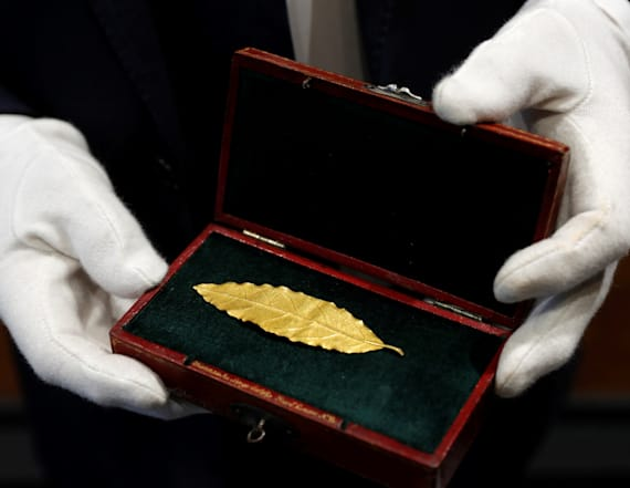 Golden leaf cut from Napoleon's crown fetches $730K