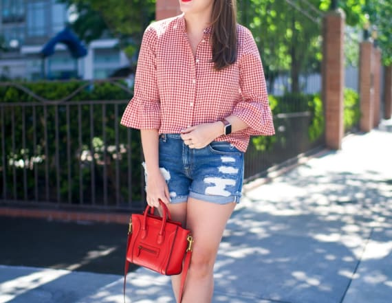 Street style tip of the day: Red gingham blouse