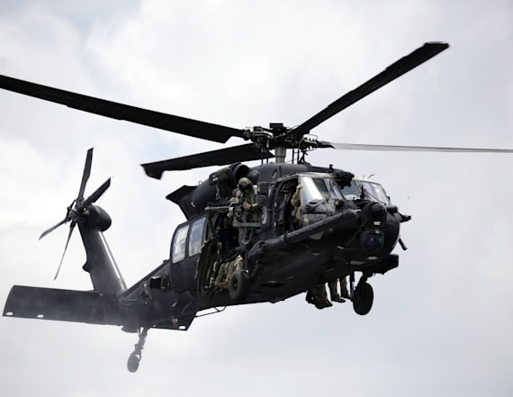 Helicopter blows over tent on army base, injuring 22