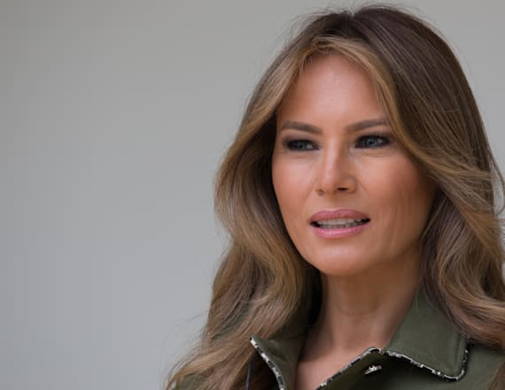 Melania Trump's photos show her in action