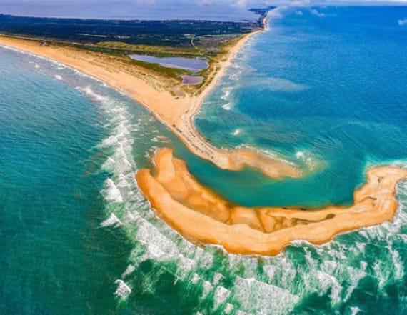 New island forms off North Carolina's coast