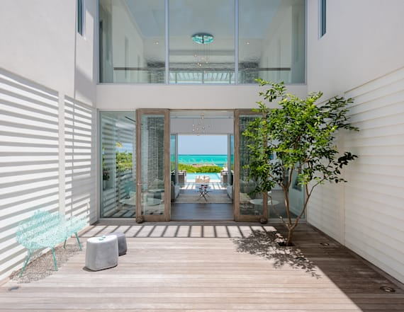 Inside spectacular beach home in Turks and Caicos