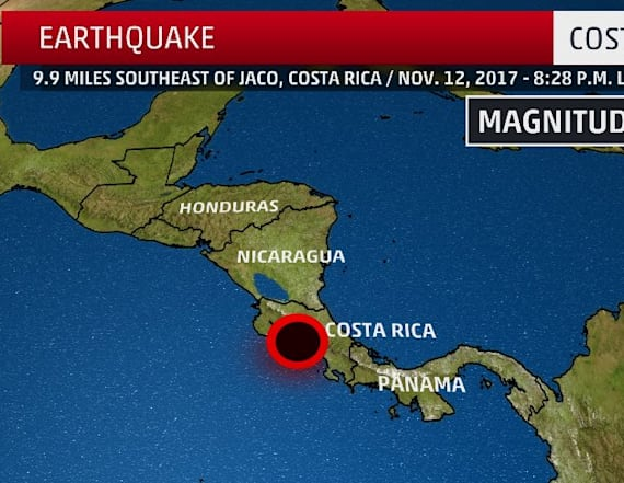 Magnitude 6.8 earthquake strikes off Costa Rica