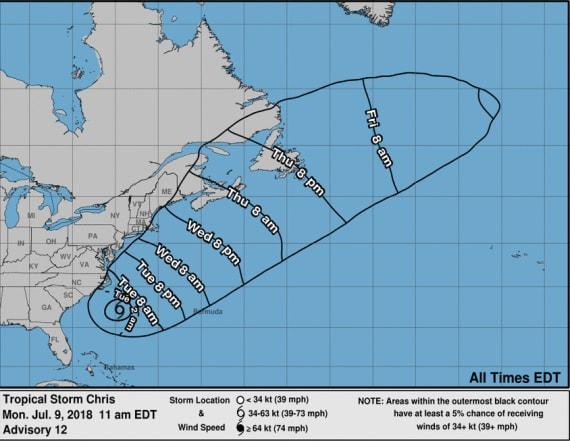 NHC: Tropical Storm Chris to become hurricane