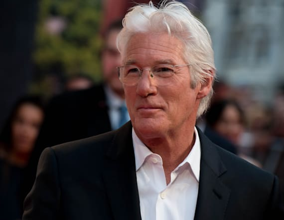 Richard Gere goes shirtless on the beach in Italy