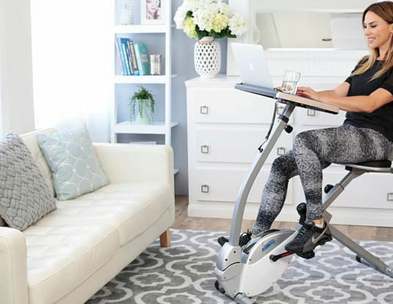 Work out at home while on your laptop