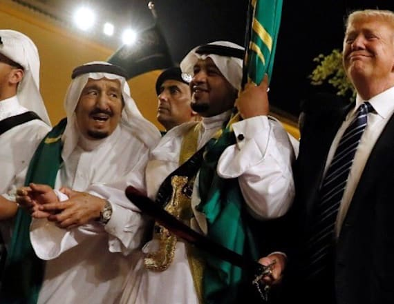 Video shows Trump bouncing to Saudi sword dance
