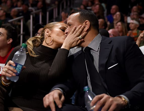 J.Lo and A-Rod caught on Kiss Cam