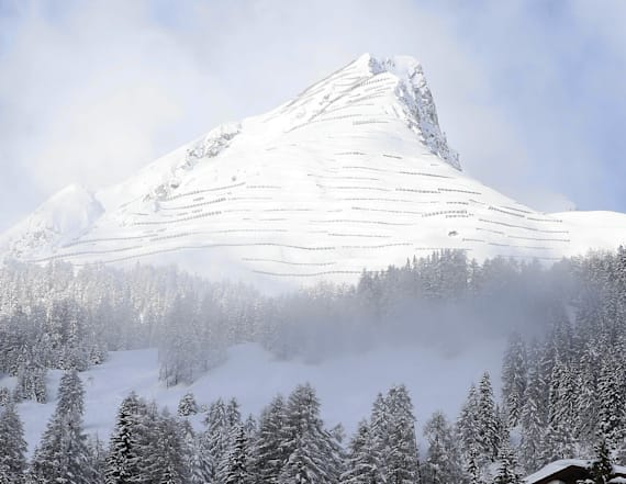 Heavy snow buries the global elite at Davos summit