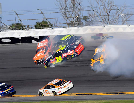 The Daytona 500 got off to a wild start