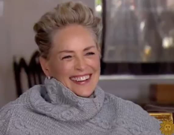 Sharon Stone laughs in reporter's face