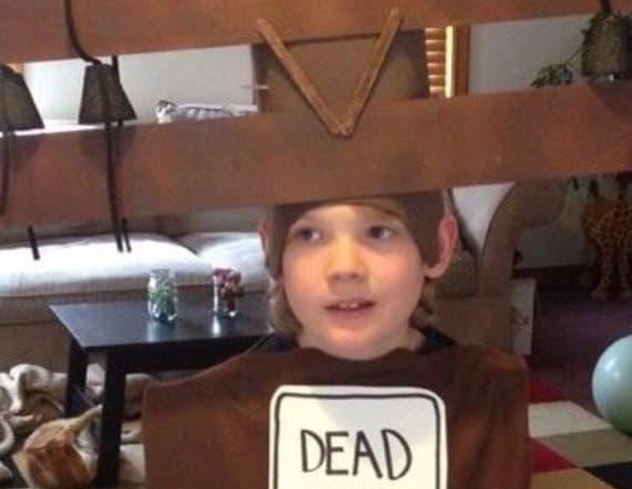 Boy's unusual Halloween costume is turning heads